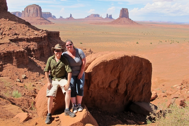 Us in Monument Valley